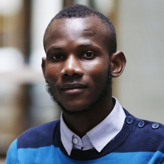 Malian Lassana Bathily, a Muslim employee who helped Jewish shoppers hide in a cold storage room from an islamist gunman during the January 9, 2015 attack, poses on January 15 in Paris. Four people were killed by jihadist Amedy Coulibaly in a hostage-taking drama at a kosher supermarket in Paris. AFP PHOTO / FRANCOIS GUILLOT (Photo credit should read FRANCOIS GUILLOT/AFP/Getty Images)