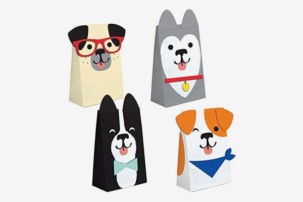 Puppy Dog Party Paper Favor Bags, 16 Pack