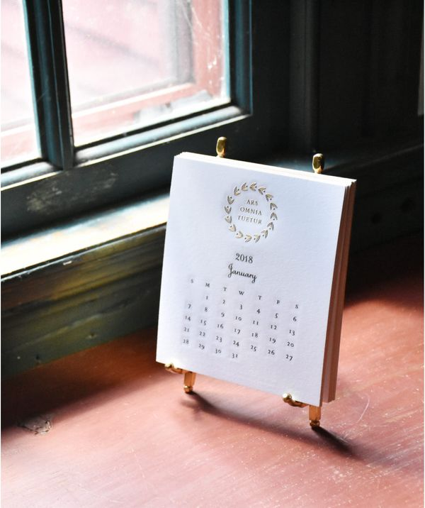 Thornwillow Press 2018 Desk Calendar