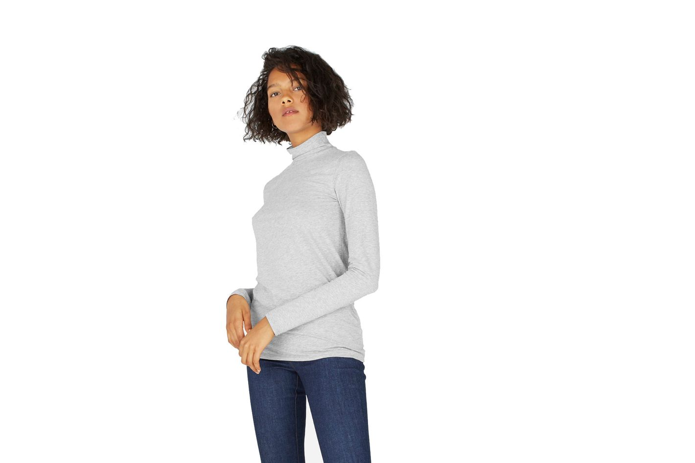 The Pima Stretch Turtleneck