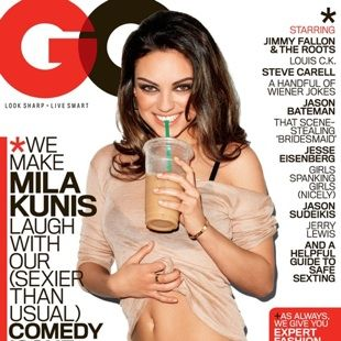Mila Kunis on this month's <em>GQ.</em>