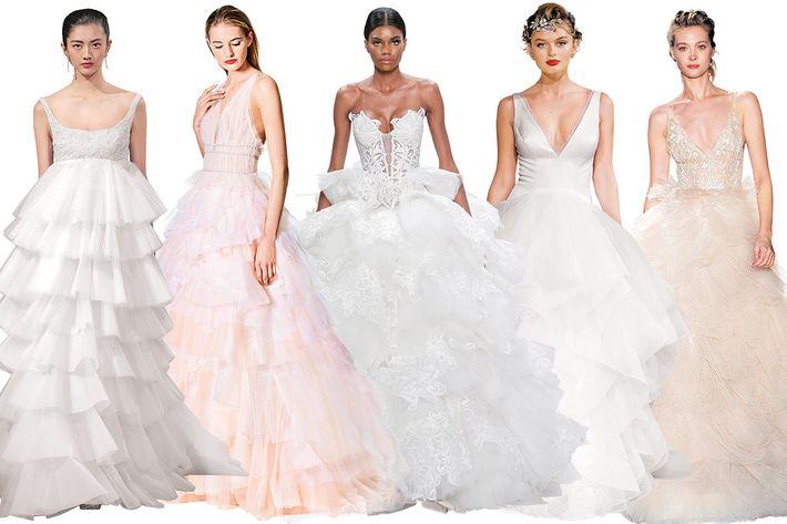 Classic Wedding Gowns 43 Ideal Cascading Ruffles