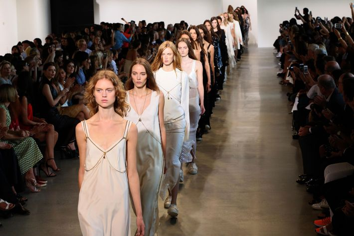 Calvin Klein at spring 2016 New York Fashion Week.
