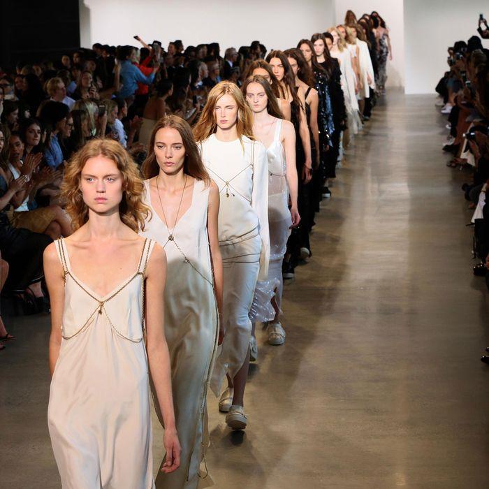 Calvin Klein at spring 2016 New York Fashion Week.