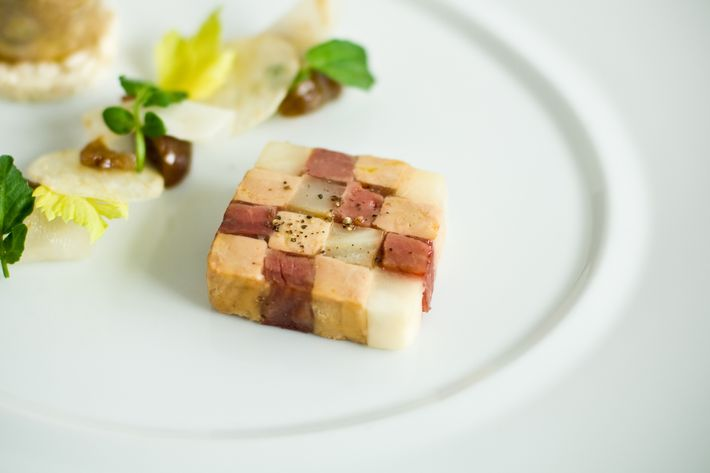 The Guinea fowl terrine at Daniel.