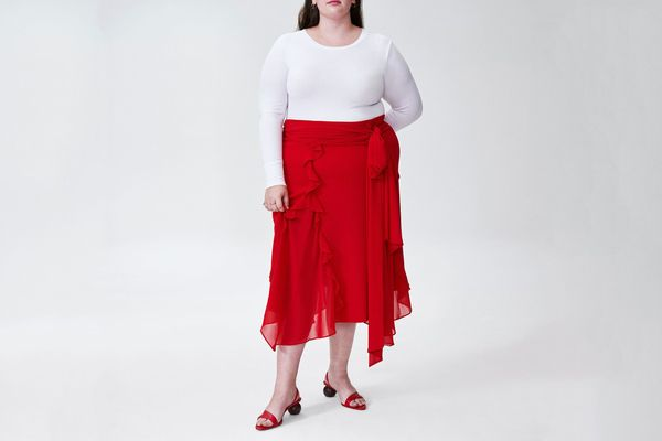 Rodarte x Universal Standard Skirt in Red