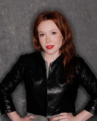 Actress Daisy Lewis visits the Tribeca Film Festival 2011 portrait studio on April 22, 2011 in New York City.