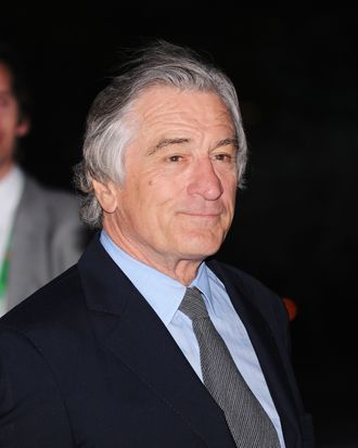 Robert De Niro attends the 2012 Tribeca Film Festival at the State Supreme Courthouse on April 17, 2012 in New York City.