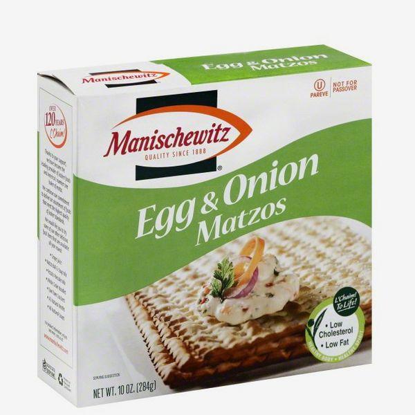 Manischewitz Egg and Onion Matzos Box