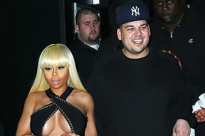 Angela and Rob Kardashian.