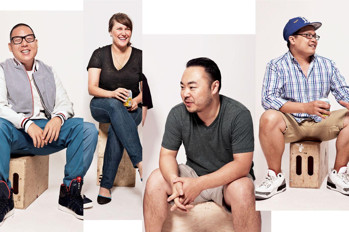 From left: Eddie Huang, Lindsay Salminen, Hooni Kim, Dale Talde.