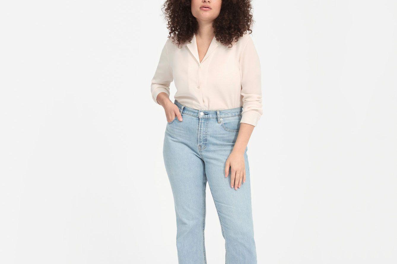 Everlane Clean Silk Notch Shirt