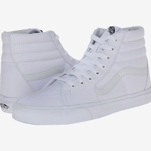 Vans Sk8-Hi Core Classics  White Platform Sneakers