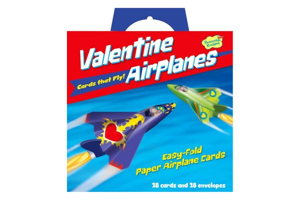 Flying Airplane Valentines