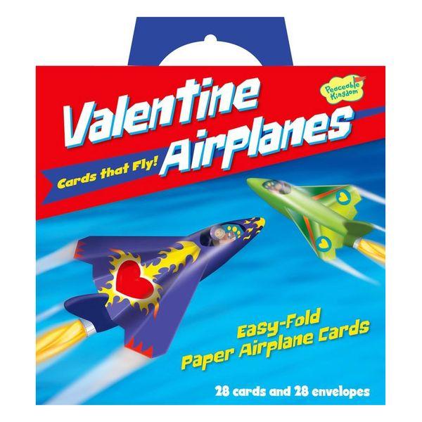 Peaceable Kingdom Flying Airplane Valentines (28-Pack)