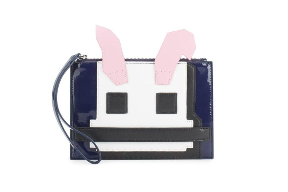 McQ Alexander McQueen Patent Leather Bunny Clutch