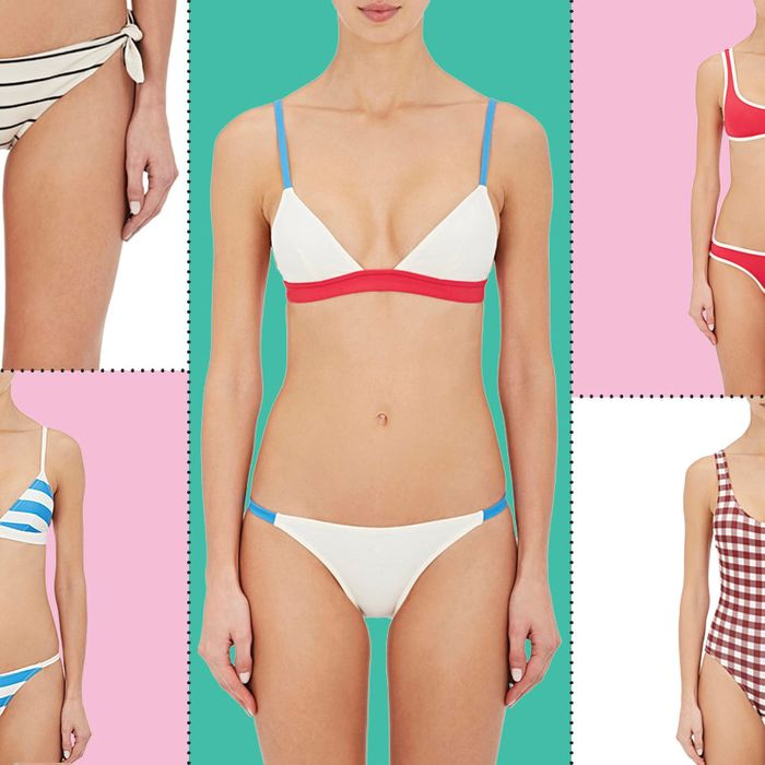 8f11737fd52 There Are a Lot of Solid   Striped Bathing Suits on Super-Sale Right Now