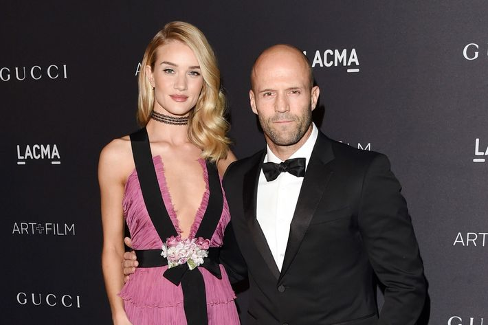 Two dolls: Rosie Huntington-Whiteley and Jason Statham.