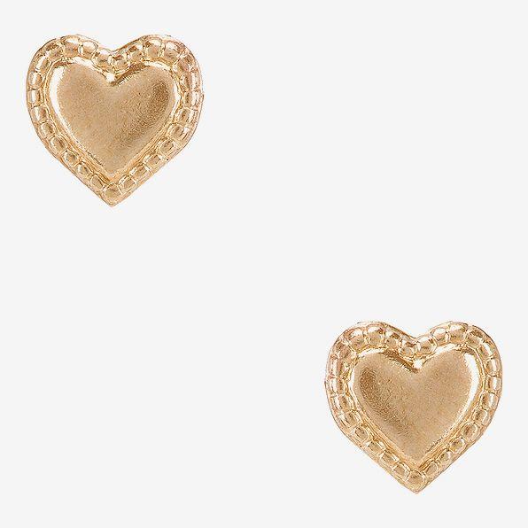 Natalie B Jewelry Heart Studs