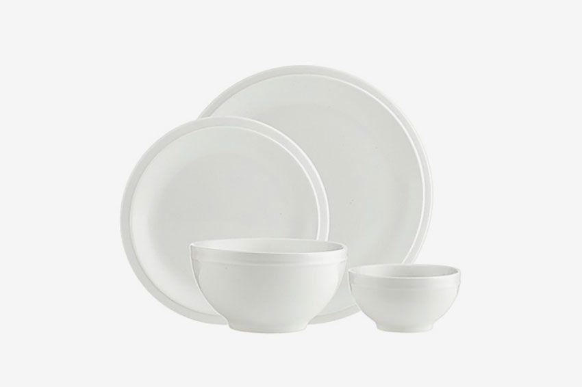 Godinger Culinara 16-Piece Dinnerware Set in White