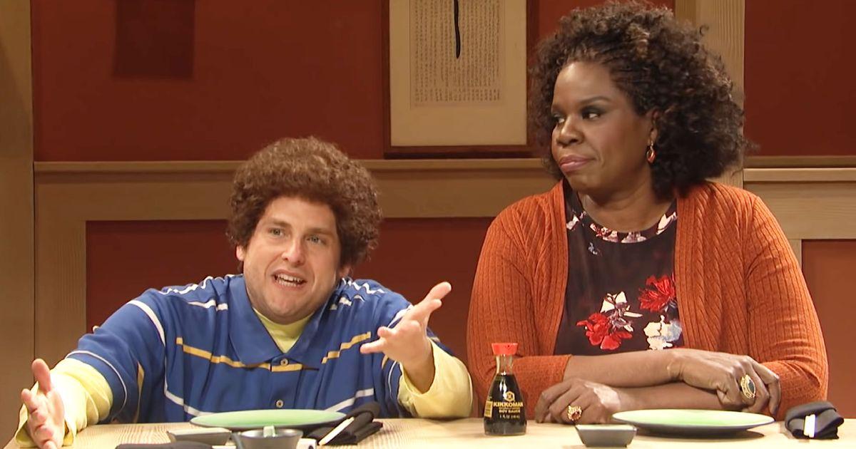 Leslie Jones Can't Keep It Together in Jonah Hill's Adam Grossman SNL Sketch