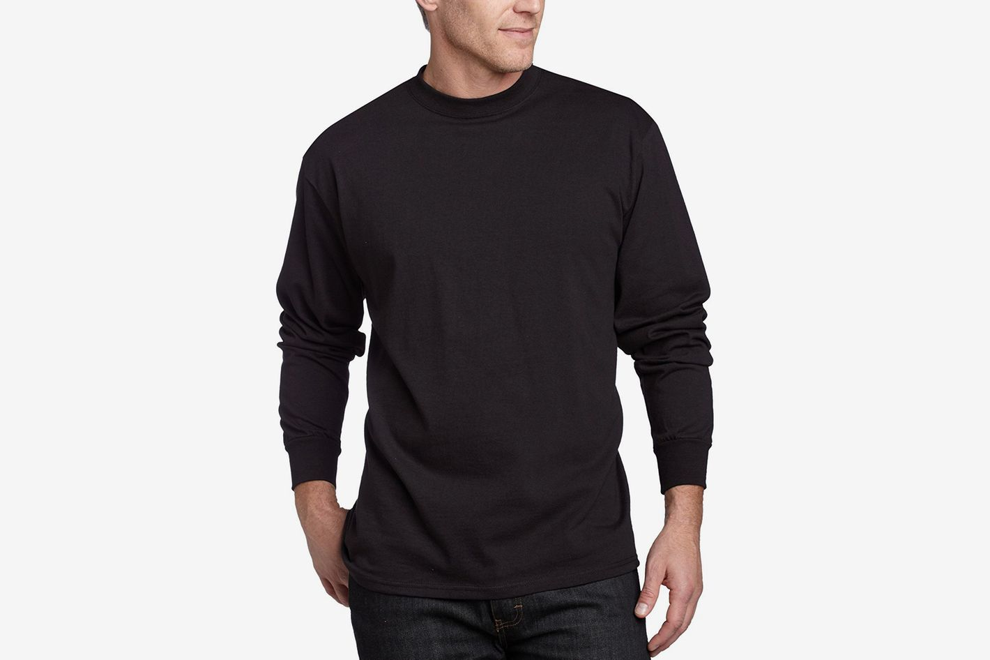 MJ Soffe Men s Long-Sleeve Cotton T-Shirt fa999a0b8acc