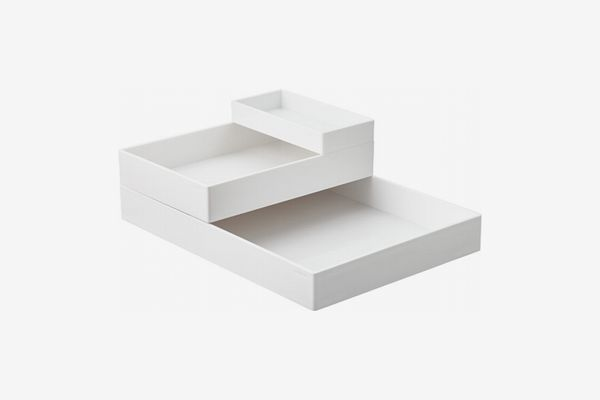 Poppin White Accessory Trays