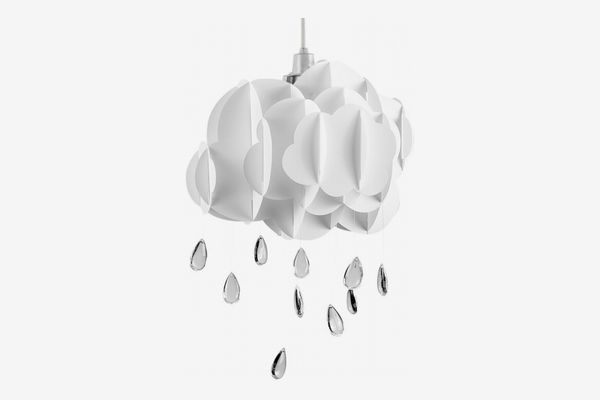 White Layered Rain-Cloud Pendant Light Shade