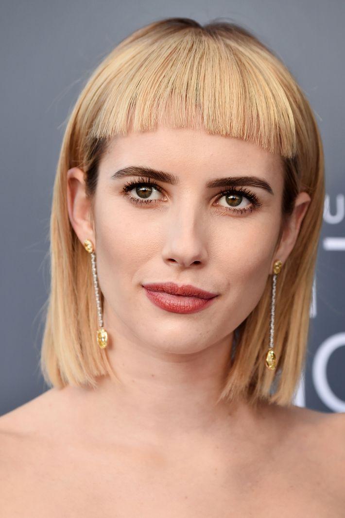 Emma Roberts Debuts Controversial Bangs At Critics Choice