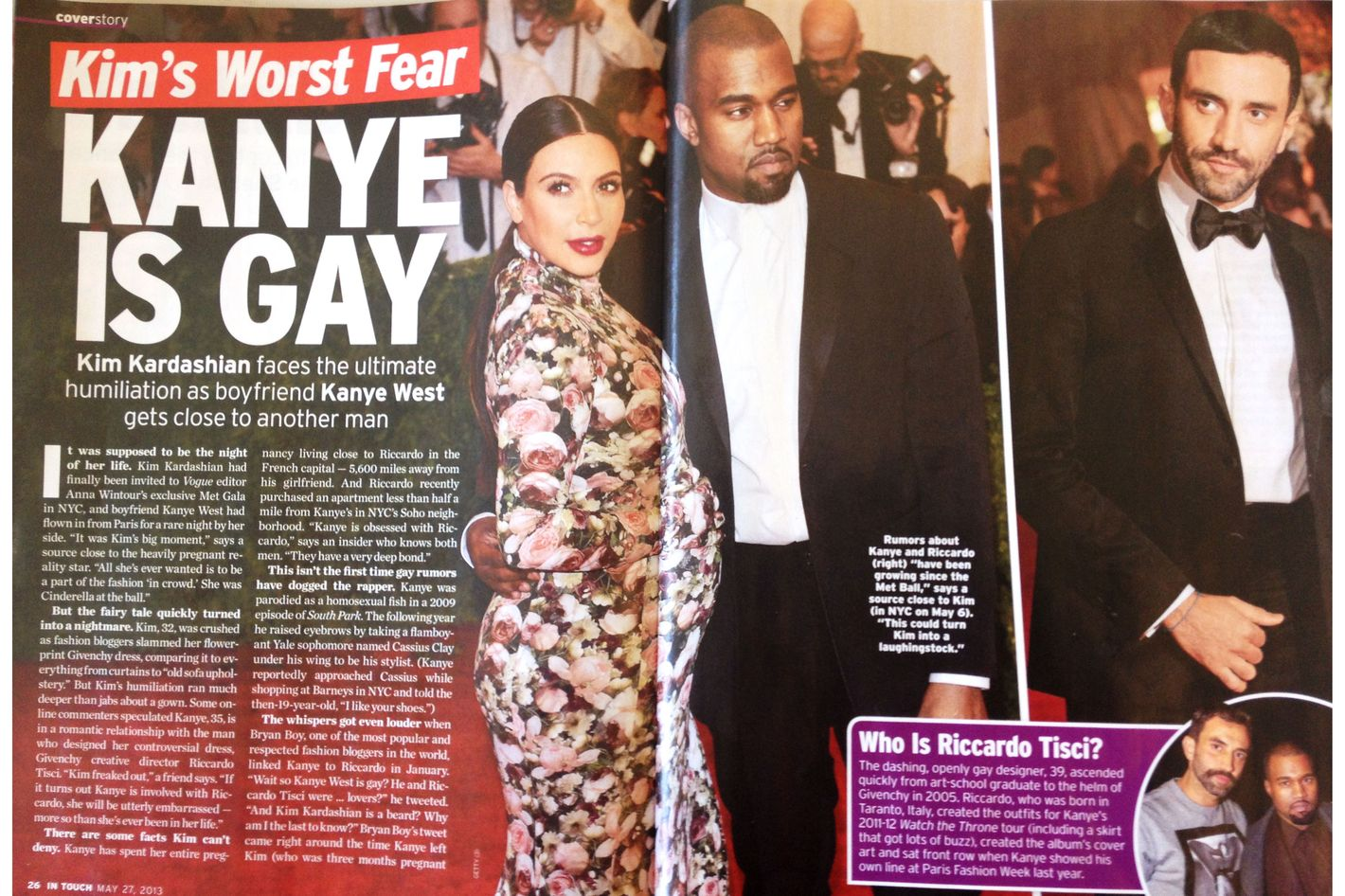 In Touch S Kanye Is Gay Story Is Awful