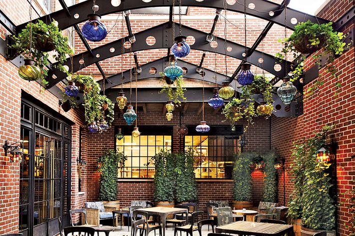 Ludlow Hotel lobby lounge garden