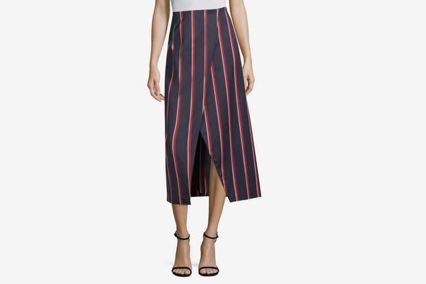 Solace London Apolline Striped Midi Skirt