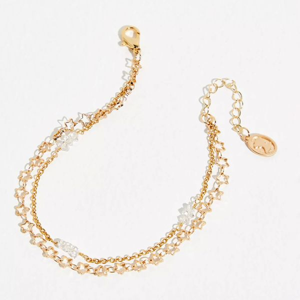 Ariana Ost Stars And Diamonds Layered Anklet