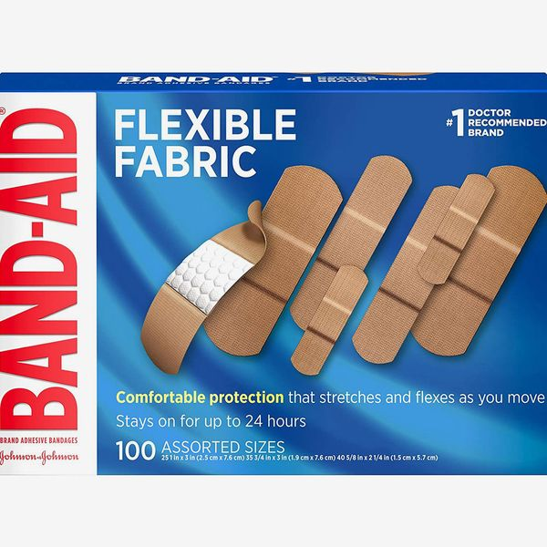 Band-Aid Brand Flexible Fabric Adhesive Bandages, Assorted Sizes, 100-Count