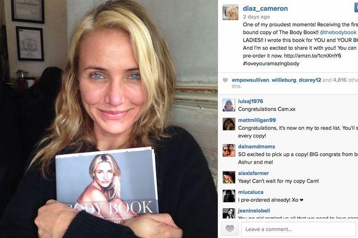 Cameron Diaz Is Writing a Goopy-Sounding Self-Help Book Cameron Diaz Instagram