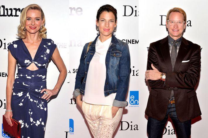 Naomi Watts, Jessica Seinfeld, and Carson Kressley.