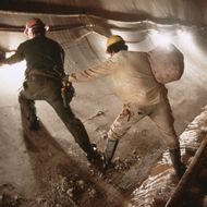 Workers in New Water Tunnel