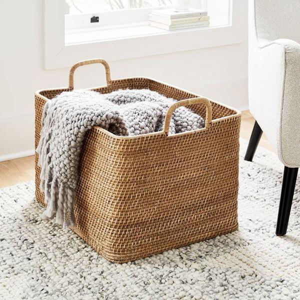 Modern Weave Basket Storage Collection - Natural - Oversized Storage Bin