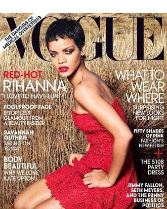 Rihanna in the field.