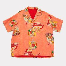 Sari-Sari General Store Coral Fan Print Shirt