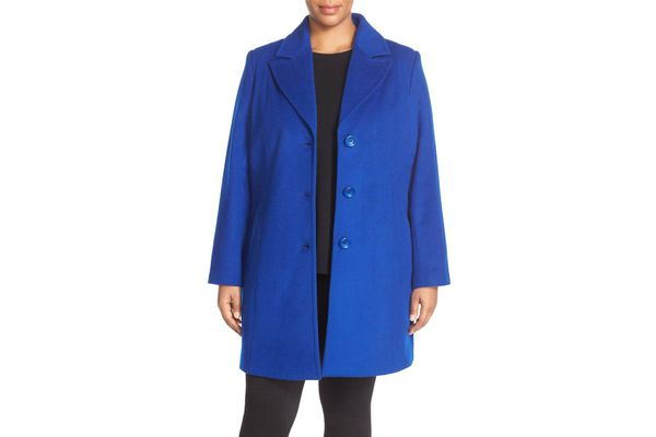 Kristen Blake Notch Collar Wool Blend Coat