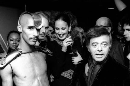 Designer Rudi Gernreich attends Fashion Fantasy Show on December 3, 1975 at Rizzoli Book Store in New York City.