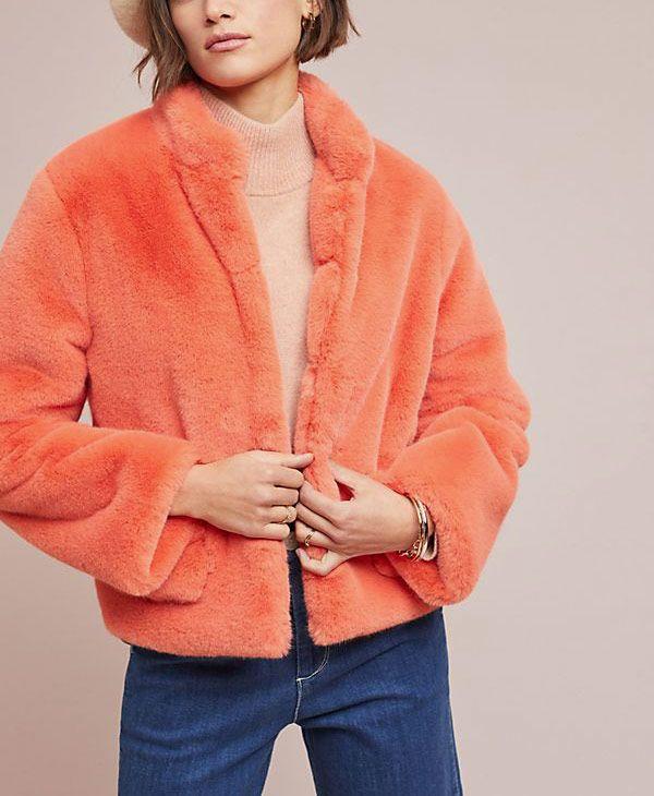 Mango Faux Fur Jacket