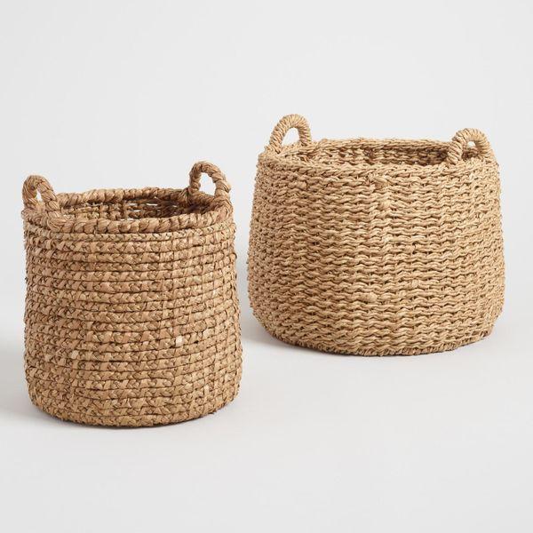 Natural Hyacinth Noelle Tote Basket