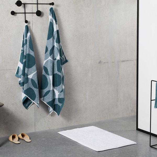 Holt 100% Cotton Set of 2 Bath Towels, Aegean Blue