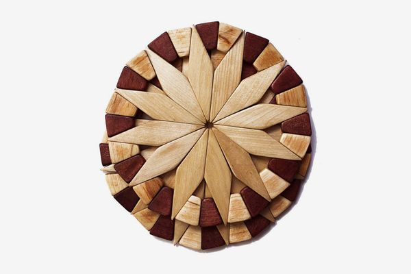 Natural Wood Trivets For Hot Dishes (Set of 2)