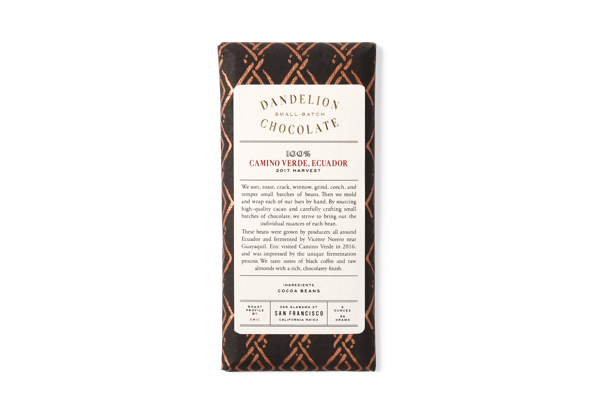Dandelion 100% Cacao Bar