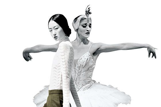 Model Samantha Xu (left) and ballet dancer Ashley Bouder.