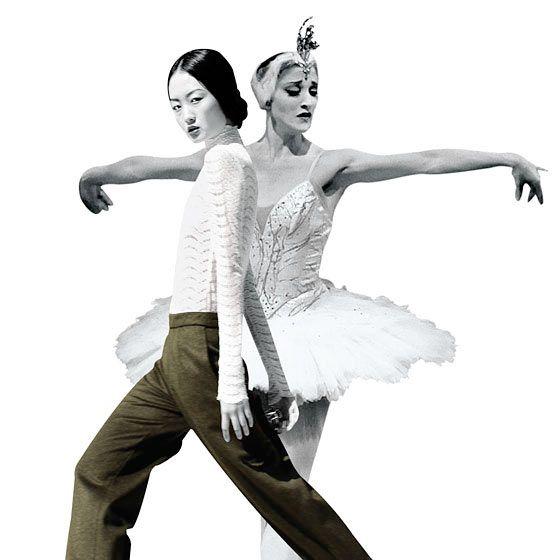 Model Samantha Xu (left) and ballet dancer Ashley Bouder.