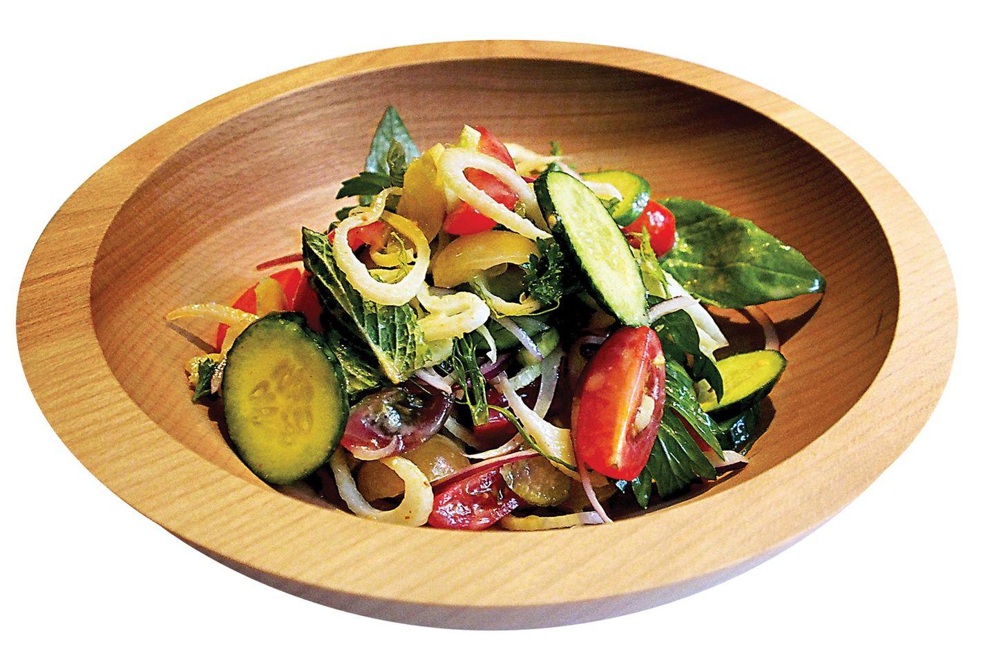 Cucumber-and-radish salad.